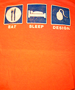 eat sleep design SitePoint t-shirt